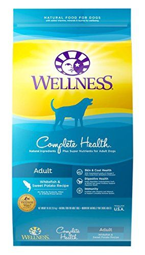 Wellness Complete Health Whitefish dog food for sensitive stomachs