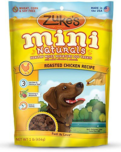 Zuke`s Mini Naturals Dog Treats, Roasted Chicken Recipe, 1-Pound