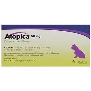 Can I give my dog atopica?