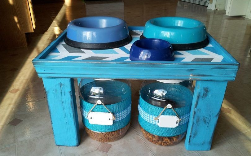 Diy dog feeder: make a stylish eating place for buster