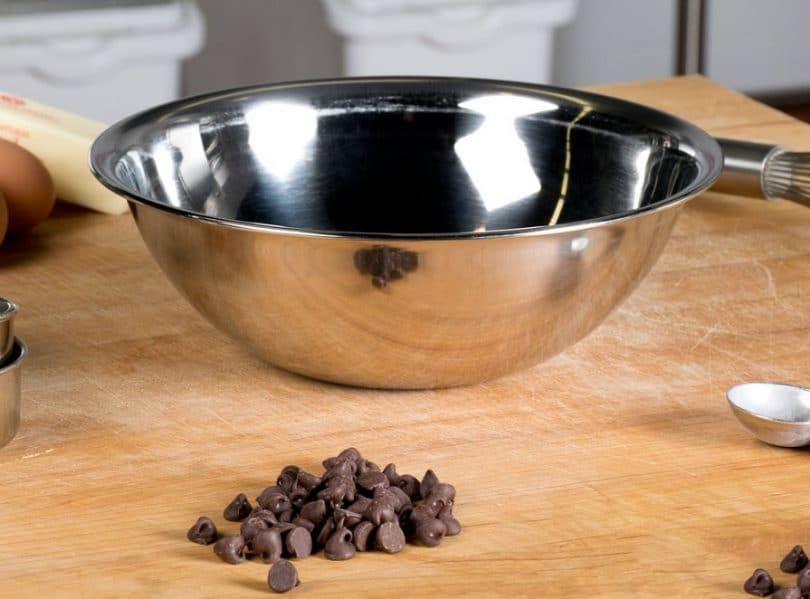 Stainless Steel Flat Rim Flat Base Mixing Bowl