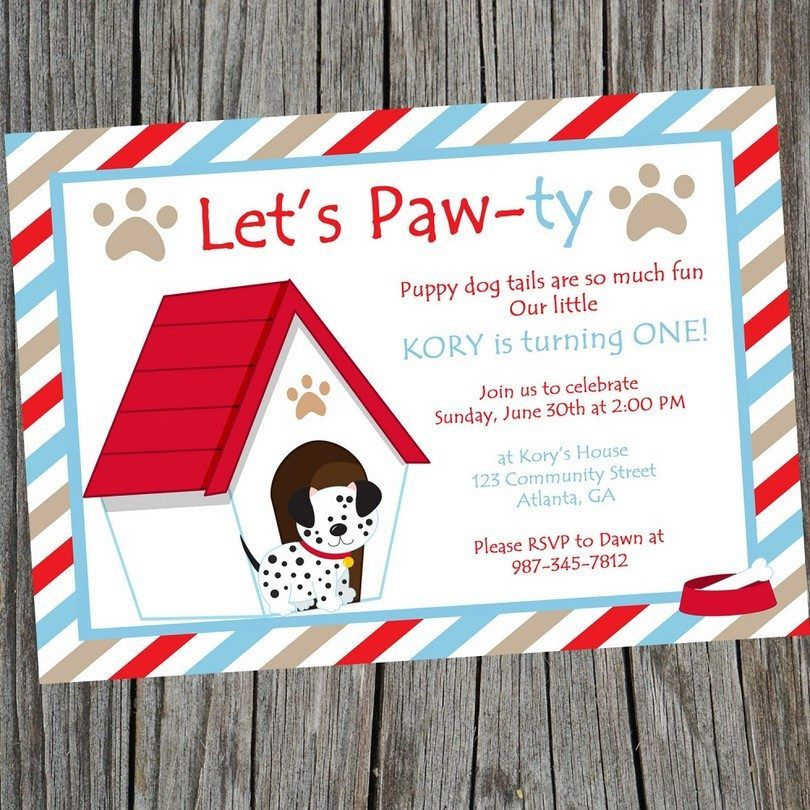 Dog invitation to a party