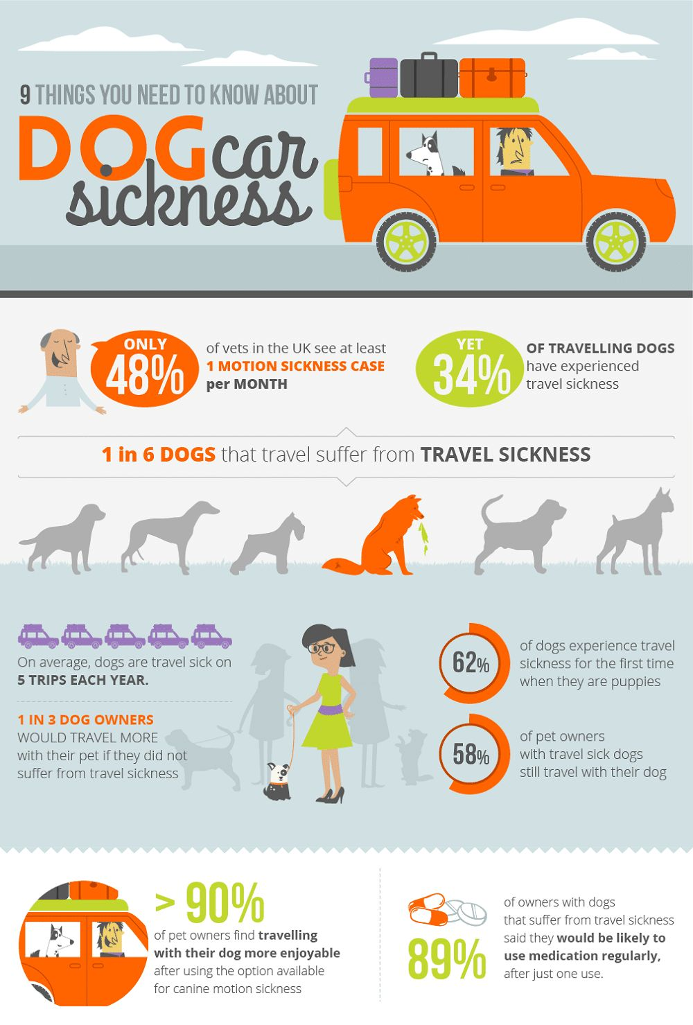 Dog car sickness: symptoms and prevention methods for your pooch