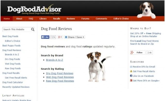 dog food adviser review