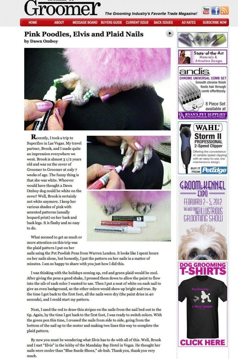 Dog grooming nail