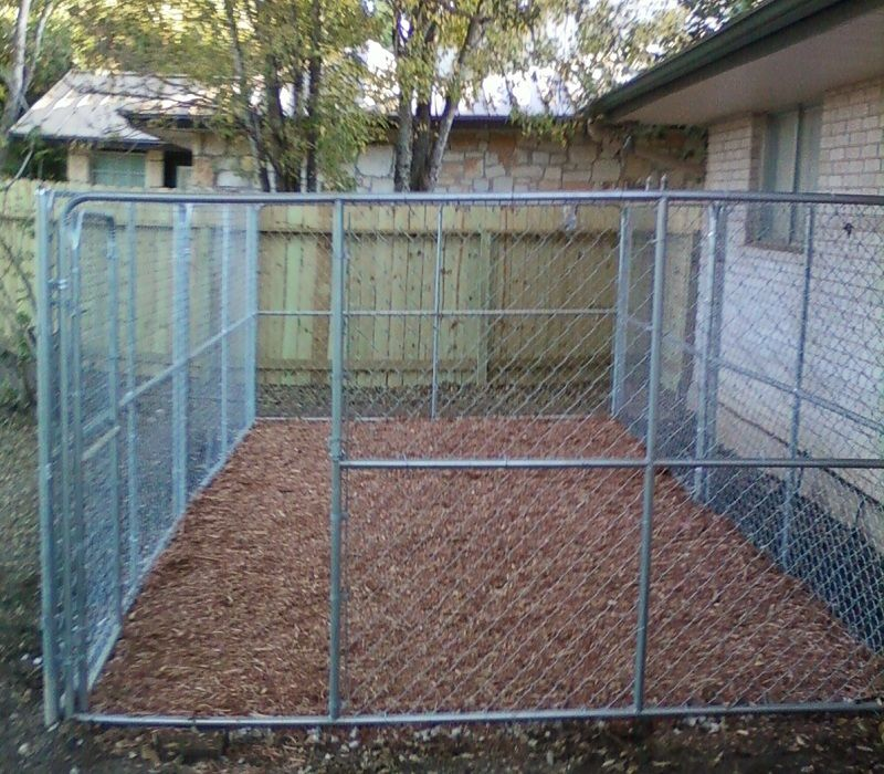Dog pen gate