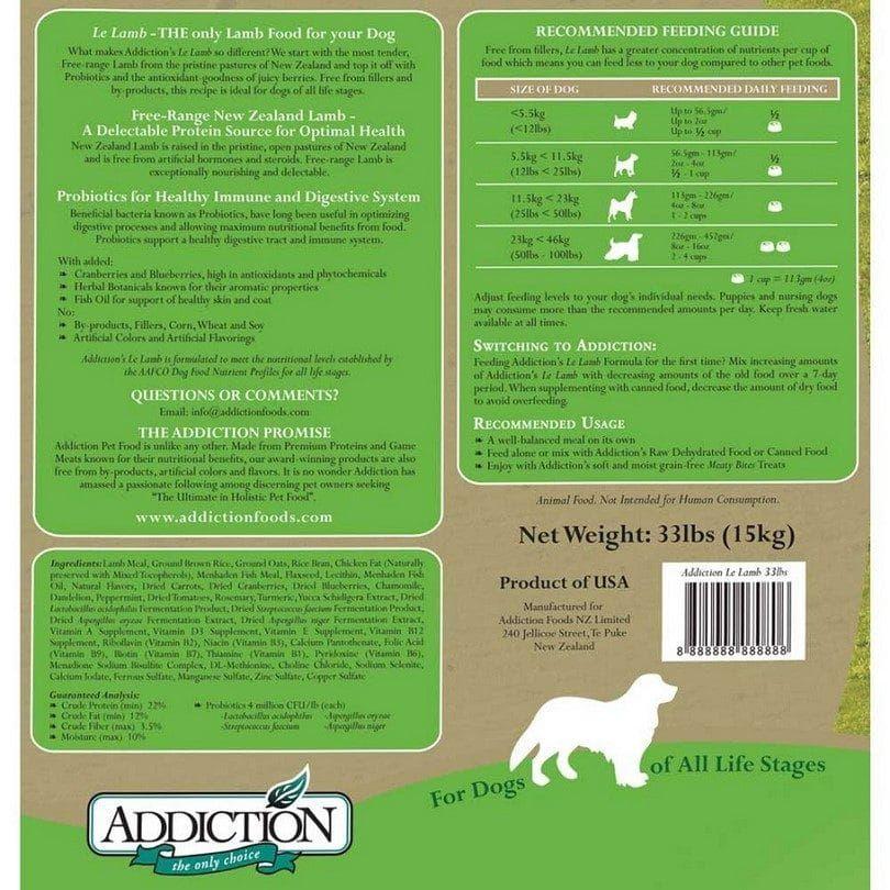 Addiction dog label