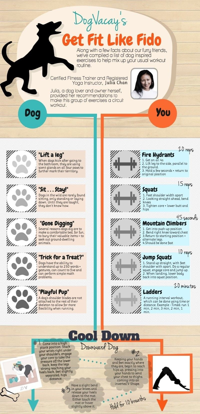 Exercise dog and yourself