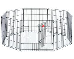 a puppy exercise pen on a white background