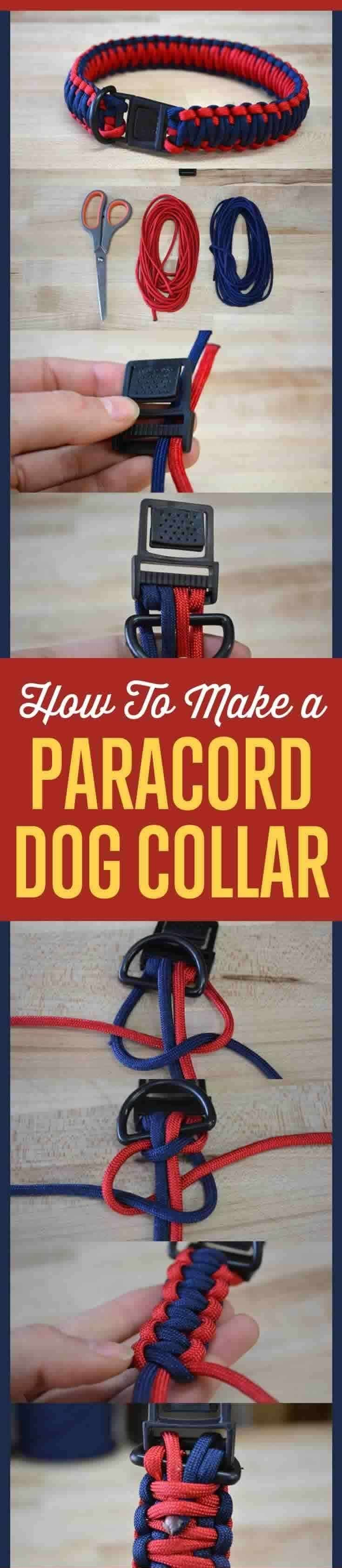 Paracord dog collar infographic