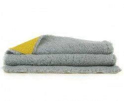 image of vetbed bedding in grey with yellow base layer